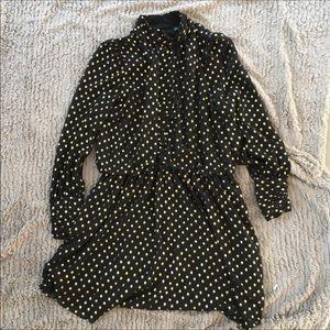 Stitch fix Adrianna Papell black dots dress